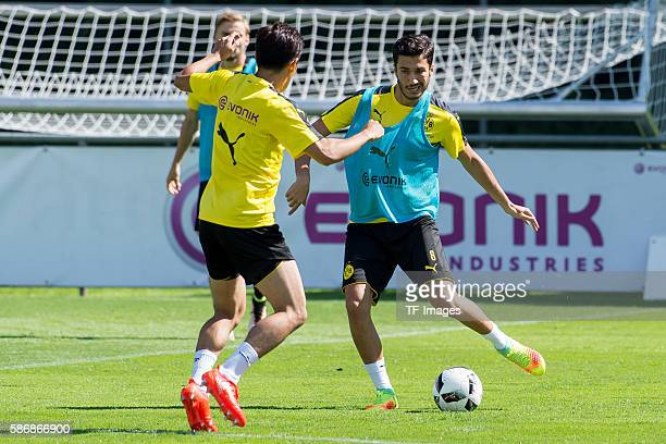Bad Ragaz Schweiz Trainingslager BV Borussia Dortmund BVB Shinji Kagawa und Nuri Sahin