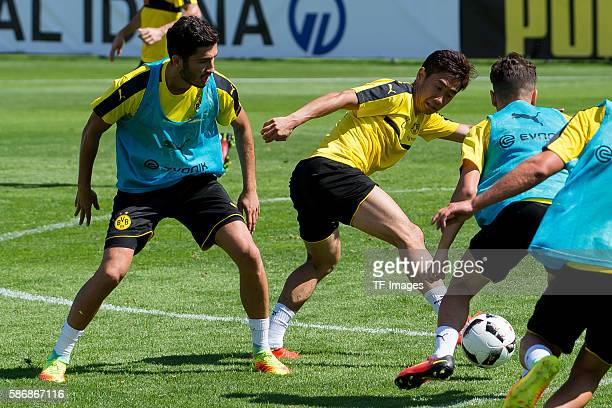 Bad Ragaz Schweiz Trainingslager BV Borussia Dortmund BVB Nuri Sahin und Shinji Kagawa