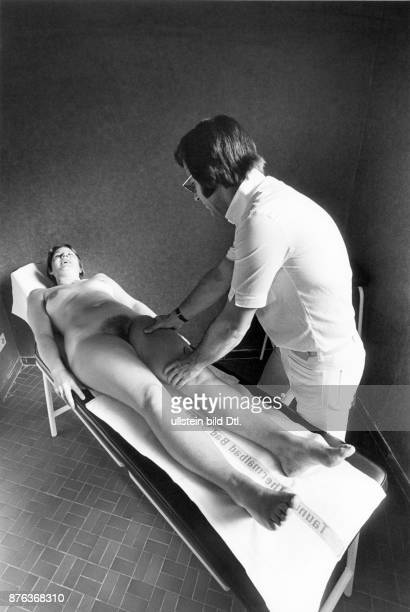 Bad Soden medical treatments in the thermal spa female patient getting massage