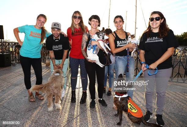 Badass Brooklyn Animal Rescue attends Time Inc's PetHero Pet Party to benefit animals impacted by the recent hurricanes at Brookfield Place on...