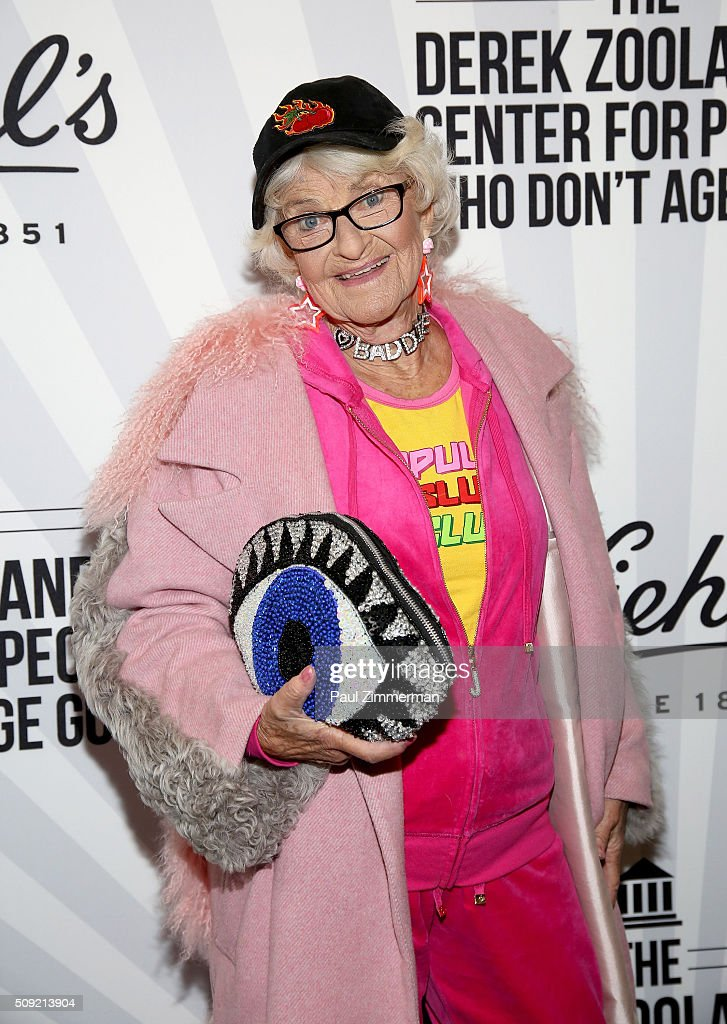 Baddie Winkle attends The Derek Zoolander Center For People Who Don't Age Good Opening on February 9, 2016 in New York City.