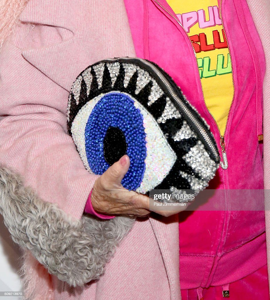 Baddie Winkle, purse detail, at The Derek Zoolander Center For People Who Don't Age Good Opening on February 9, 2016 in New York City.