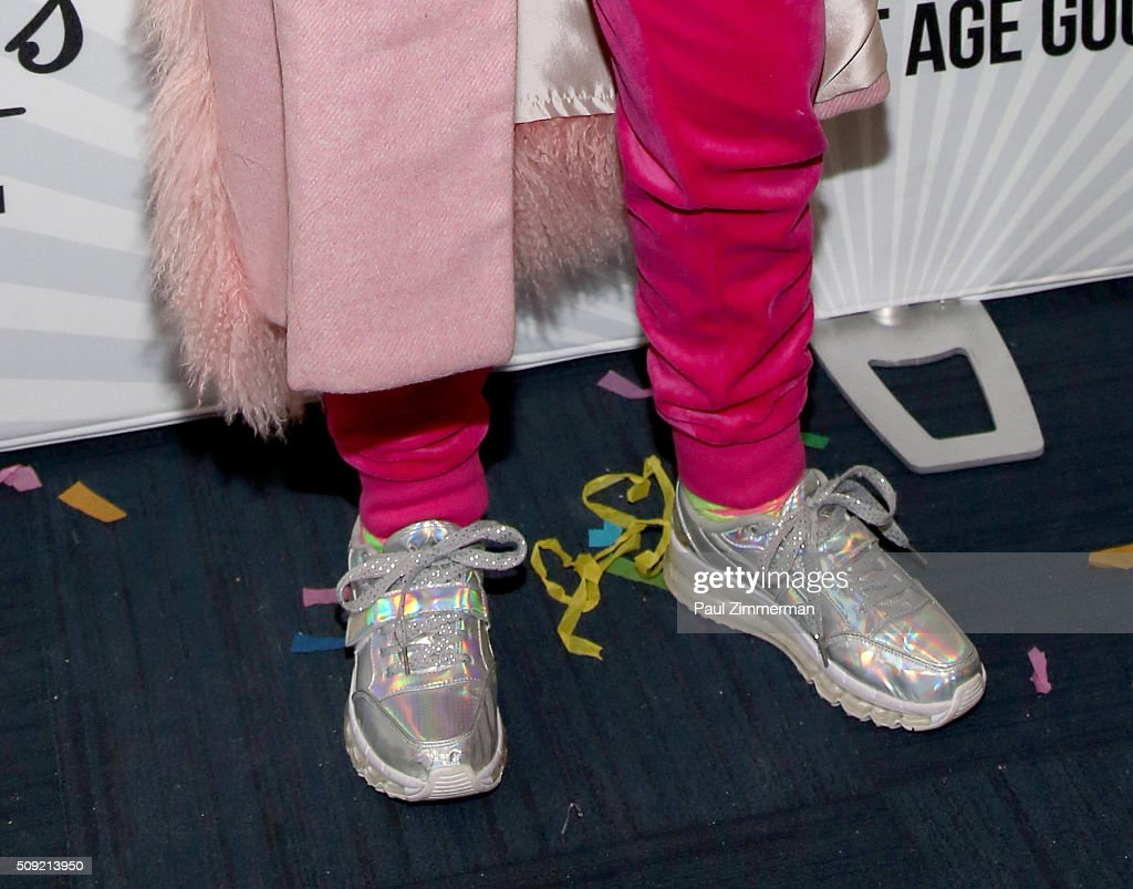 Baddie Winkle, shoe detail, at The Derek Zoolander Center For People Who Don't Age Good Opening on February 9, 2016 in New York City.