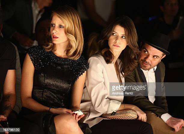 Bade Iscil Beren Saat and Kenan Dogulu attend the Soul By Ozgur Masur show during Mercedes Benz Fashion Week Istanbul Fall/Winter 2013/14 at Antrepo...