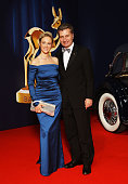 Baden Wurtemberg governor Guenther Oettinger and partner Friederike Beyer arrive at the Bambi Awards 2008 on November 27 2008 in Offenburg Germany