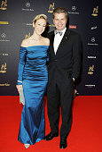 BadenWuerttemberg governor Guenther Oettinger and his new partner Friederike Beyer arrive at the Bambi Awards 2008 on November 27 2008 in Offenburg...