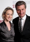 BadenWuerttemberg governor Guenther Oettinger and his wife Inken attend the Roland Berger Award for Human Dignity 2010 at the Konzerthaus am...
