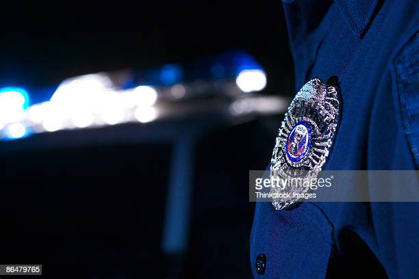 Badge of police officer