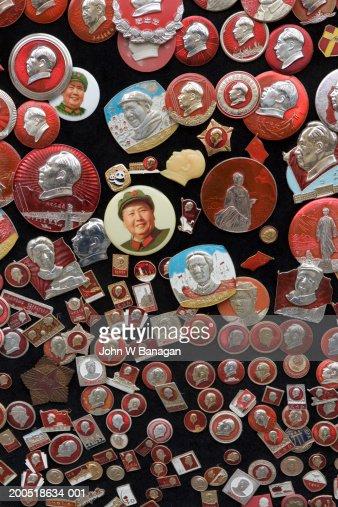 Badges of Mao Tse-tung, close-up : Photo