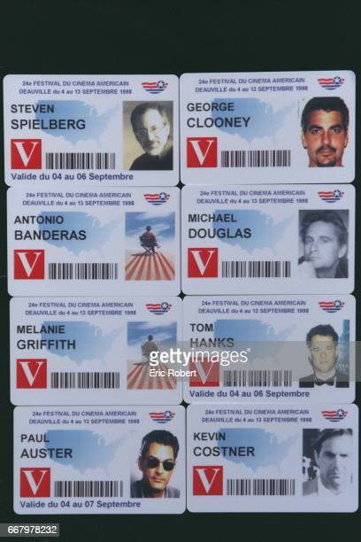 Badges of S Spielberg G Clooney A Banderas M Douglas M Griffith T Hanks P Auster K Costner