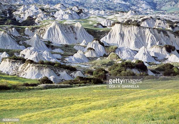 Badlands in Pantano near Aliano Basilicata Italy