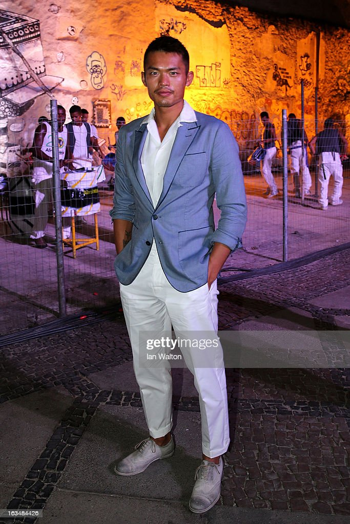 Badminton player Lin Dan attends the Laureus Welcome Party at the Rio Scenarium during the 2013 Laureus World Sports Awards on March 10, 2013 in Rio de Janeiro, Brazil.