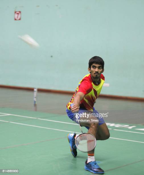 Badminton player Srikanth Kidambi during an exclusive interview with Hindustan Times at Gopichand Badminton Academy on January 6 2015 in Hyderabad...