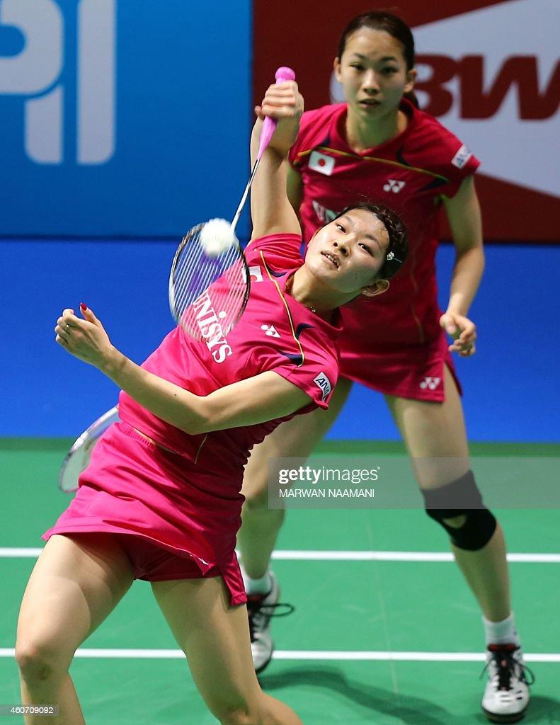 Badminton players Misaki Matsutomo back and Ayaka Takahashi of