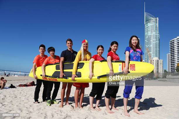 Badminton players Zheng Siwei and Chen Qingchen of China Cameron McEvoy Kirsty Higgison Misaki Matsutomo and Ayaka Takahashi of Japan and Sung Ji...