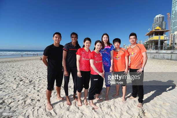 Badminton players Zheng Siwei and Chen Qingchen of China Misaki Matsutomo and Ayaka Takahashi of Japan Sung Ji Hyun of Korea and Jonatan Christie of...