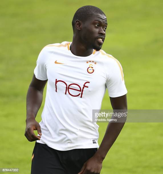 Badou Ndiaye of Galatasaray attends a training session in Bad Waltersdor town of Graz Austria on August 04 2017