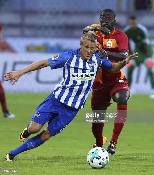 Badou Ndiaye of Galatasaray in action during a friendly match between Galatasaray and Hertha Berlin as part of the Turkish Spor Toto Super Lig new...