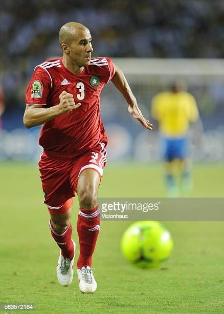 Badr El Kaddouri of Morocco during the 2012 African Cup of Nations Group C match between Gabon and Morocco at the Stade de l'Amitie in Libreville...