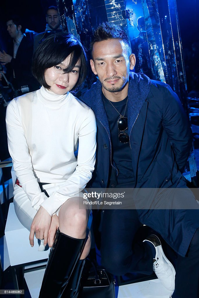 Bae Doona and Hidetoshi Nakata attend the Louis Vuitton show as part of the Paris Fashion Week Womenswear Fall/Winter 2016/2017. Held at Louis Vuitton Foundation on March 9, 2016 in Paris, France.