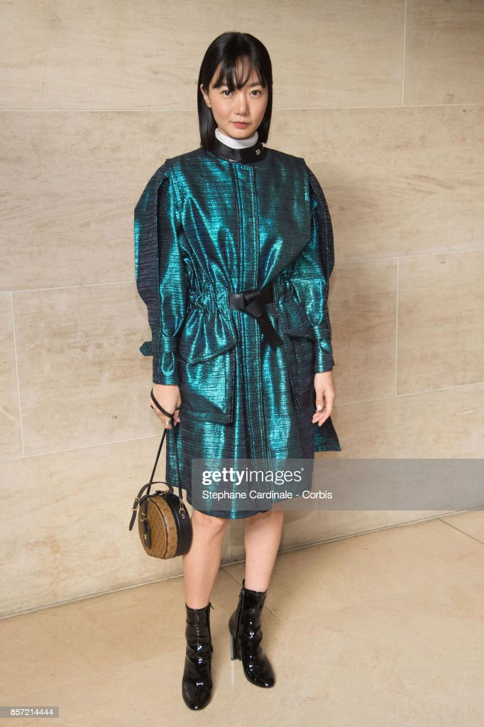 Bae Doona attends the Louis Vuitton show as part of the Paris Fashion Week Womenswear Spring/Summer 2018 at Musee du Louvre on October 3, 2017 in Paris, France.