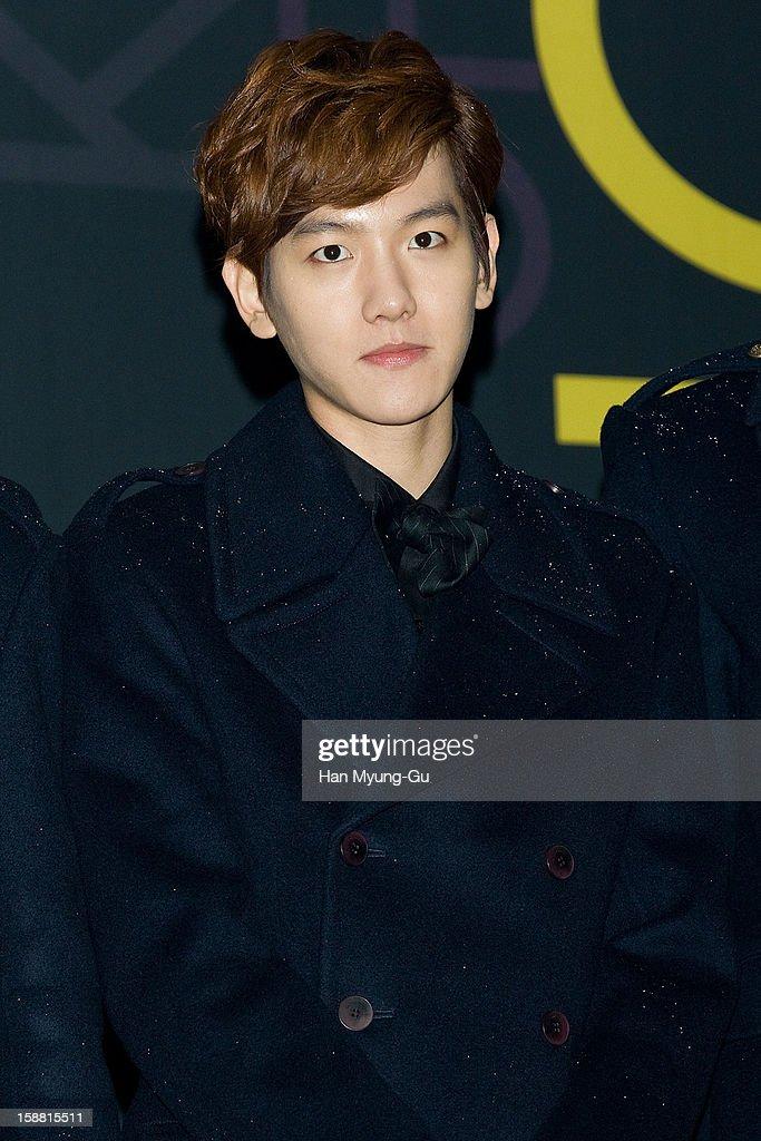 Baek Hyun of boy band EXO-K arrives at the 2012 SBS Korea Pop Music Festival named 'The Color Of K-Pop' at Korea University on December 29, 2012 in Seoul, South Korea.