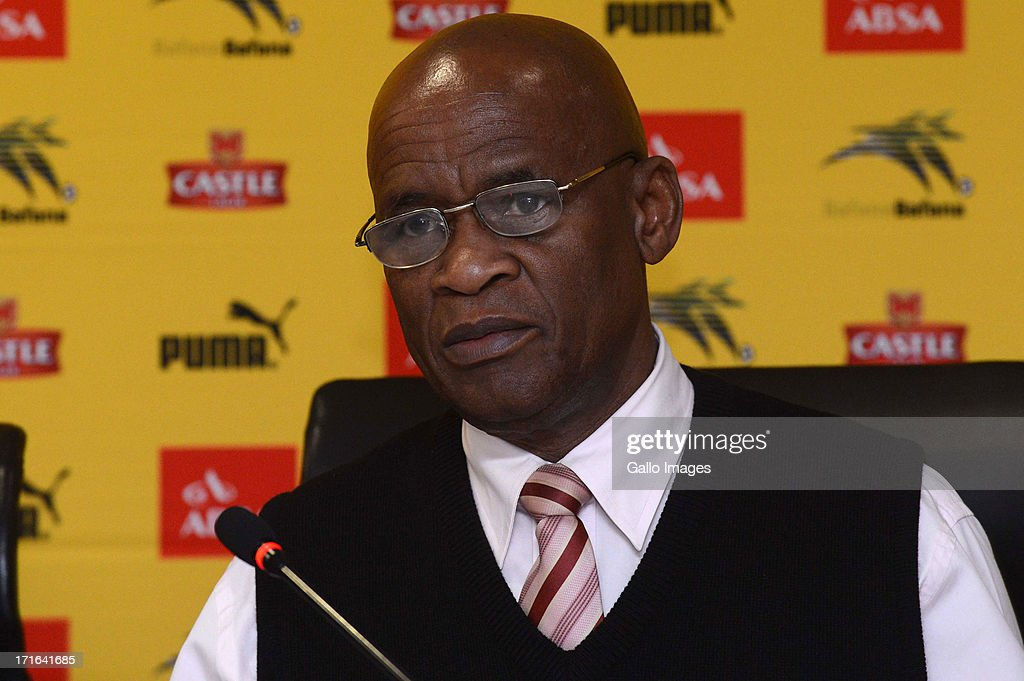 Bafana Bafana team manager Barney Kujane attends the Bafana Bafana press conference at SAFA House on June 27, 2013 in Johannesburg, South Africa.