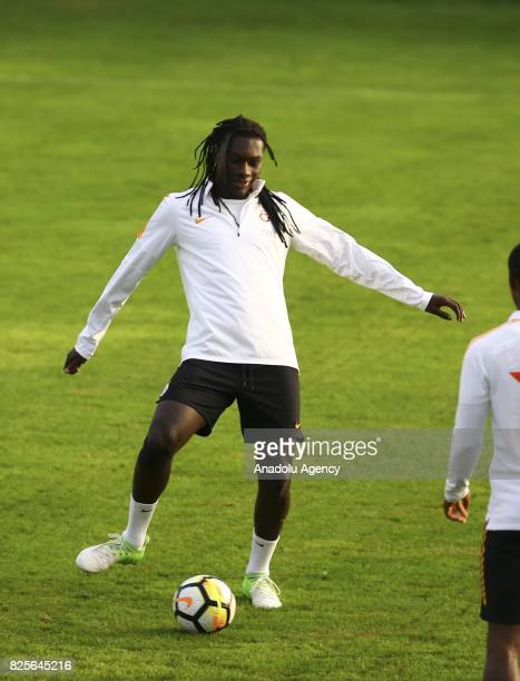 Bafetimbi Gomis of Galatasaray attends a training session as part of the Turkish Spor Toto Super Lig new season preparations in Bad Waltersdorf town...