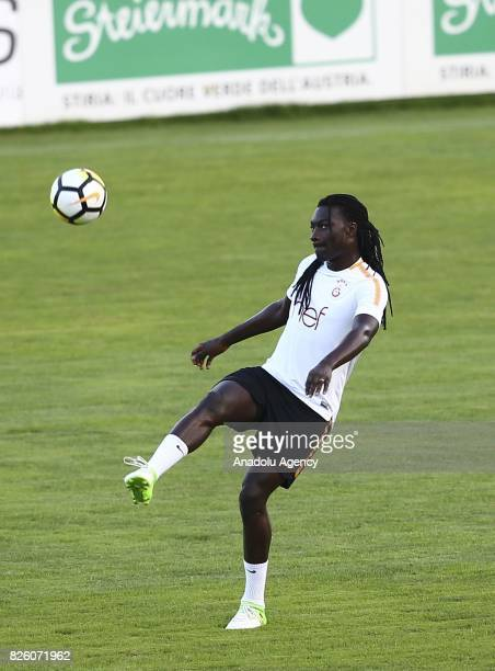 Bafetimbi Gomis of Galatasaray attends a training session at Therme Stadium in Bad Waltersdor town of Graz Austria on August 03 2017