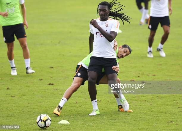 Bafetimbi Gomis of Galatasaray attends a training session in Bad Waltersdor town of Graz Austria on August 04 2017
