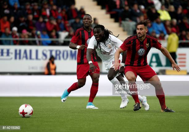 Bafetimbi Gomis of Galatasaray in action during the UEFA Europa League 2nd Qualifying Round soccer match between Galatasaray and Ostersund FK at...