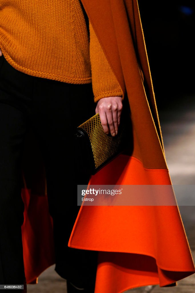 A Bag detail at the Bottega Veneta show during Milan Fashion Week Fall/Winter 2017/18 on February 25, 2017 in Milan, Italy.