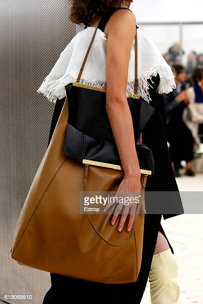 Bag detail at the Celine show as part of the Paris Fashion Week Womenswear Spring/Summer 2017 on October 2 2016 in Paris France