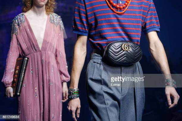 Bag Detail at the Gucci show during Milan Fashion Week Spring/Summer 2018 on September 20 2017 in Milan Italy
