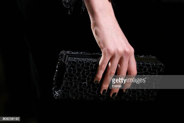 Bag detail during the Giorgio Armani Prive Haute Couture Fall/Winter 20172018 show as part of Haute Couture Paris Fashion Week on July 4 2017 in...