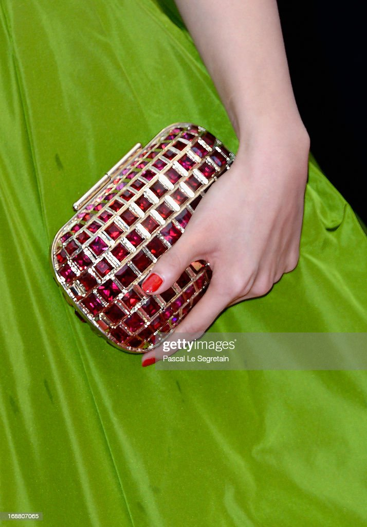 A bag detail is seen as Zhang Yuqi attends the Opening Ceremony and 'The Great Gatsby' Premiere during the 66th Annual Cannes Film Festival at the Theatre Lumiere on May 15, 2013 in Cannes, France.