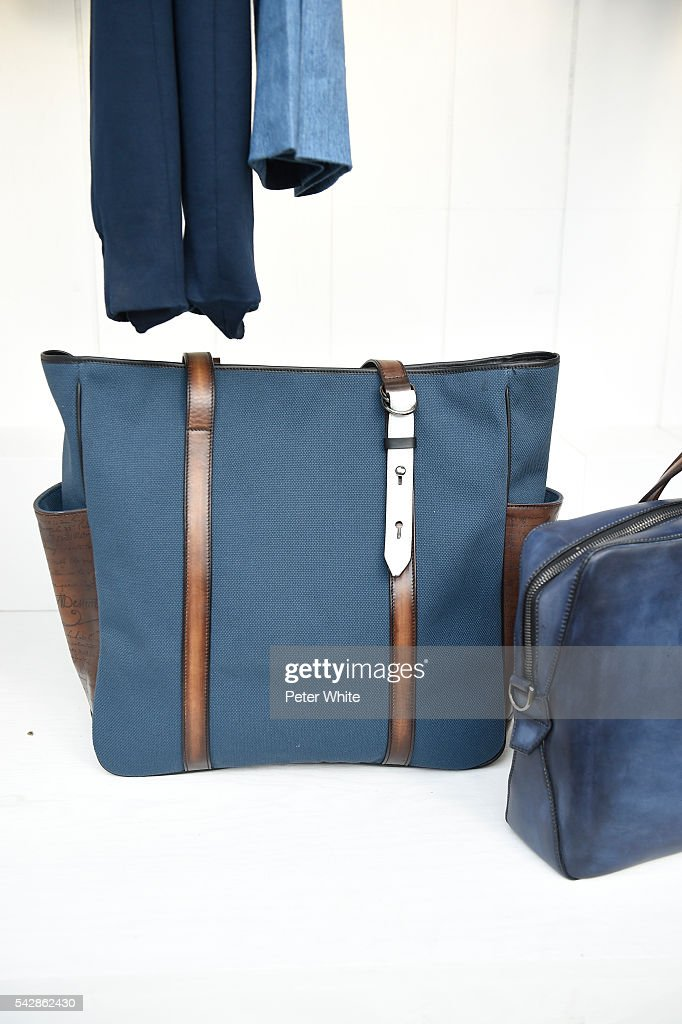bag details, during the Berluti Menswear Spring/Summer 2017 show as part of Paris Fashion Week on June 24, 2016 in Paris, France.