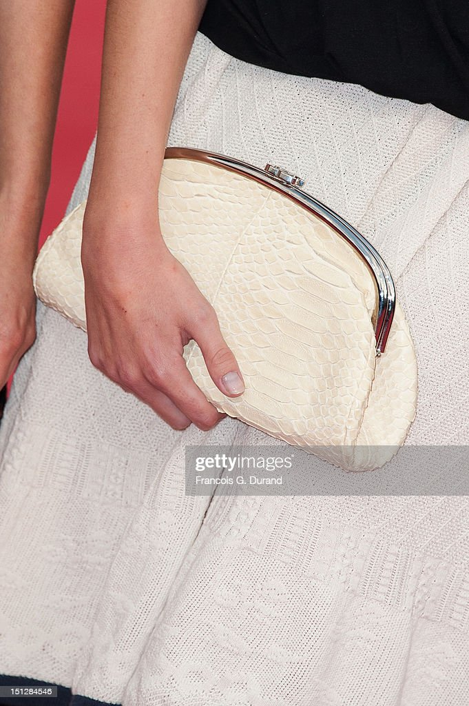 Bag held by Ana Girardot attending the 'Lawless' Premiere during the 38th Deauville American Film Festival on September 5, 2012 in Deauville, France.