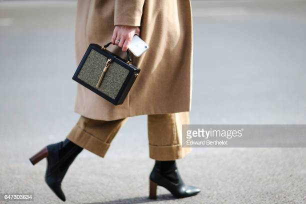 A bag is seen outside the Manish Arora show during Paris Fashion Week Womenswear Fall/Winter 2017/2018 on March 2 2017 in Paris France