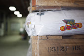 A bag of Monsanto Co Dekalb brand corn seed sits stacked at a Southern States agriculture cooperative in Shelbyville Kentucky US on Friday April 1...