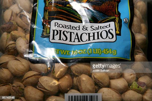 A bag of pistachios sit on a table March 31 2009 in San Francisco California The US Food and Drug Administration is asking consumers to avoid eating...
