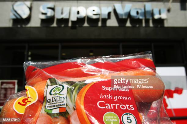 A bag of Supervalu Irish grown carrots outside a SuperValu store on Talbot Street Dublin Leading supermarket chain SuperValu has confirmed it ordered...