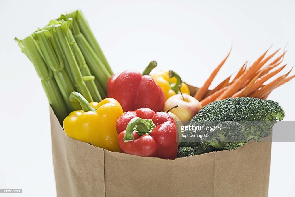 Bag of vegetables : Stock Photo