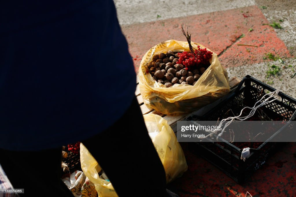 A bag of walnuts is seen in the central market on November 19, 2011 in Krasnodar, Russia. Krasnodar is one of thirteen cities proposed as a host city as Russia prepares to host the 2018 FIFA World Cup.