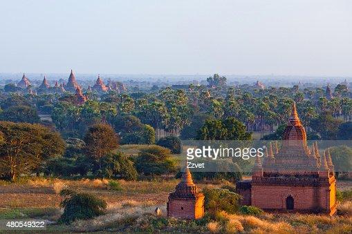 Zona arqueológica de bagán, Myanmar : Foto de stock
