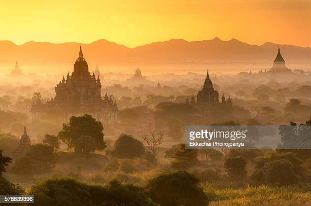 Bagan Temple in sunrise