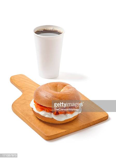Bagel and Lox with Coffee