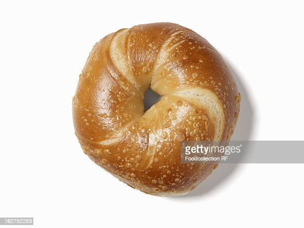 Bagel on white background