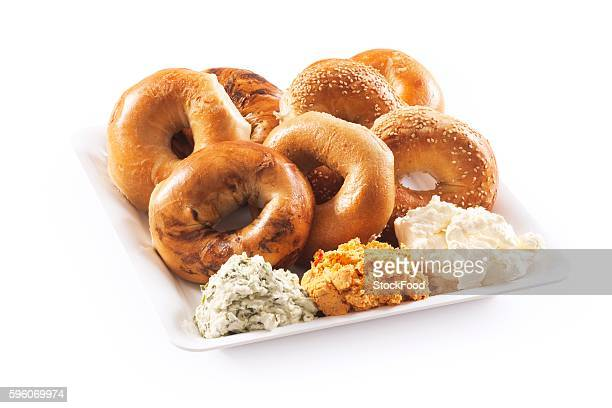 Bagel Platter with Assorted Cream Cheeses