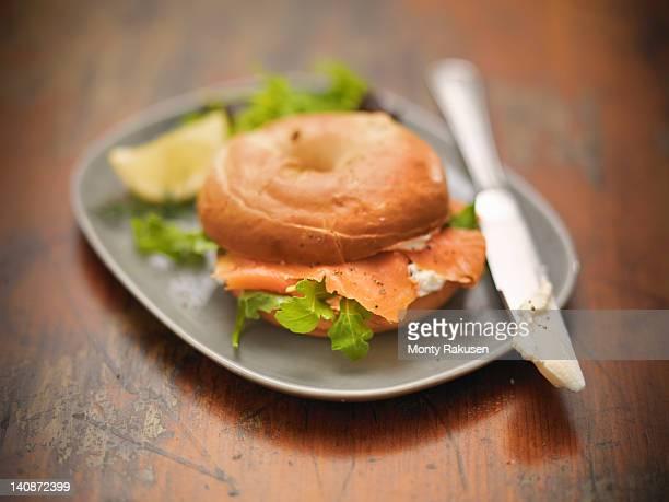 Bagel with Scottish smoked salmon and cream cheese